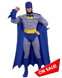Deluxe Adult Men Batman Brave & Bold Muscle Halloween Costume