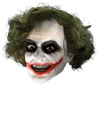 Adult Joker Vinyl Mask w Hair