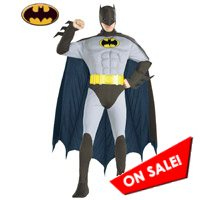 Adult Muscle Chest Grey Suit Batman Costume