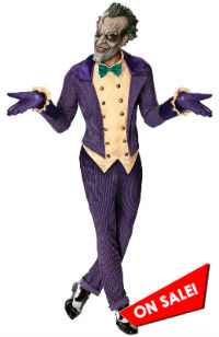 Batman Arkham City Joker Costume Halloween Sale