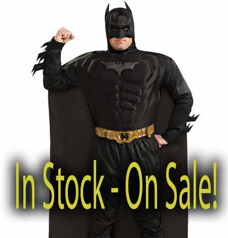 adult deluxe muscle chest Batman costume sale