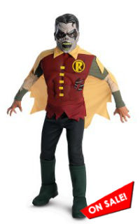 The Blackest Night Zombie Robin Costume for Kids