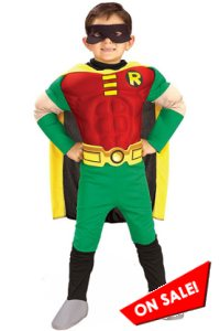Kid Muscle Chest Robin Halloween Costume
