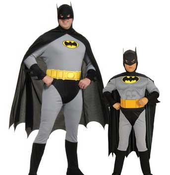 Classic Grey Batman Costume Stock Sale