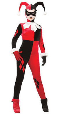 Adult Gotham Girls Harley Quinn Costume Female Joker