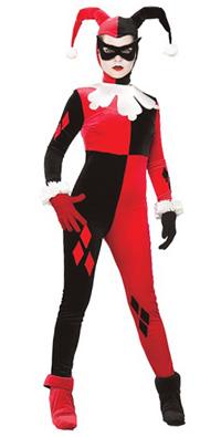 Adult Gotham Girls Harley Quinn Costume Female Joker