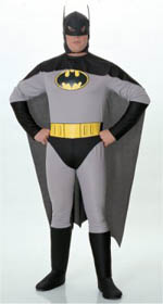 Classic Grey Batman Comic Book Costumes for Halloween Special Sale Prices