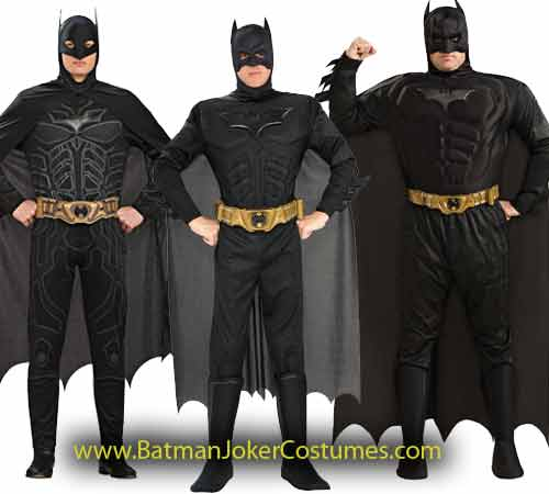 Adult Men Plus Batman Costume Stock Sale