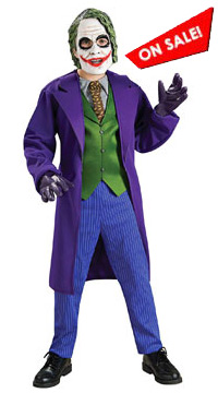 Batman Dark Knight Deluxe The Joker Child Costume for sale