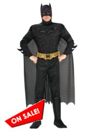 Deluxe Dark Knight Batman Muscle Chest Adult Costume