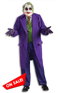 Adult Deluxe Dark Knight Joker Costume Halloween Sale