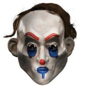 Happy Halloween Mask from Joker's Bank Robber Clown Gang in Dark Knight