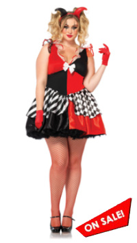 1X 2X 3X 4X Harley Quinn Costume Plus