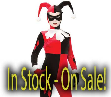 xs small medium Harley Quinn costume in stock