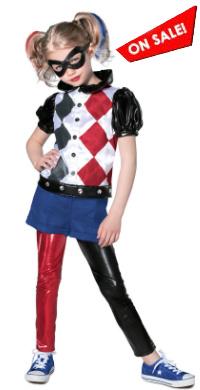 Kids DC Superhero Girls Harley Quinn Costume