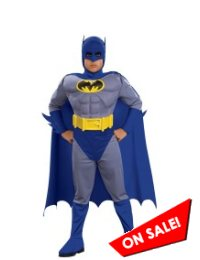 Batman Brave & Bold Deluxe Muscle Kid Halloween Costume
