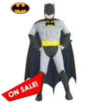 Kid Muscle Grey Batman Halloween Costume