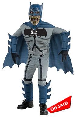 Kids Zombie Batman Costume for Halloween