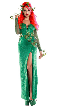 Long Dress Poison Ivy Costume