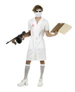 Mens Nurse Joker Costume Dark Knight