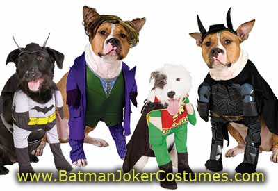 Pet Dog Batman Joker Robin Halloween costumes for sale