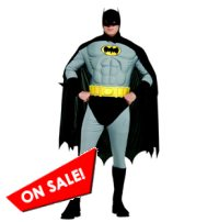 Deluxe Muscle Plus Size Batman Costume