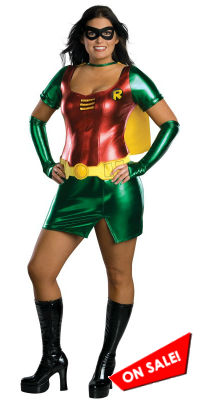 Full Figure Plus Size Robin Costume for Women