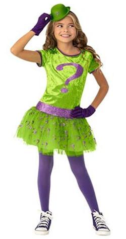 Riddler Girl Classic Tutu Child Costume