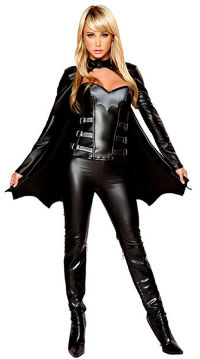 Adult Sexy Batgirl Halloween Costume