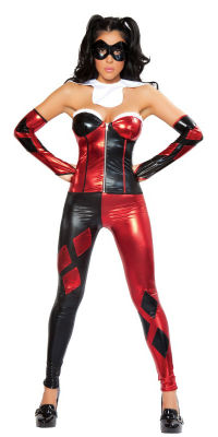 Sexy Jester Harley Quinn Halloween Costume