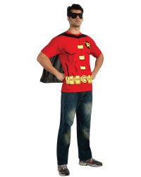 Adult Men Robin T-Shirt Halloween Costume Kit