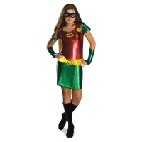 Discount Girls Robin Tween Halloween Costume